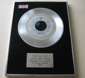 STATUS QUO - AGAIN AND AGAIN PLATINUM single presentation DISC